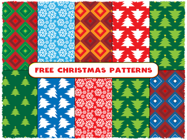 10 Free Christmas Seamless Patterns