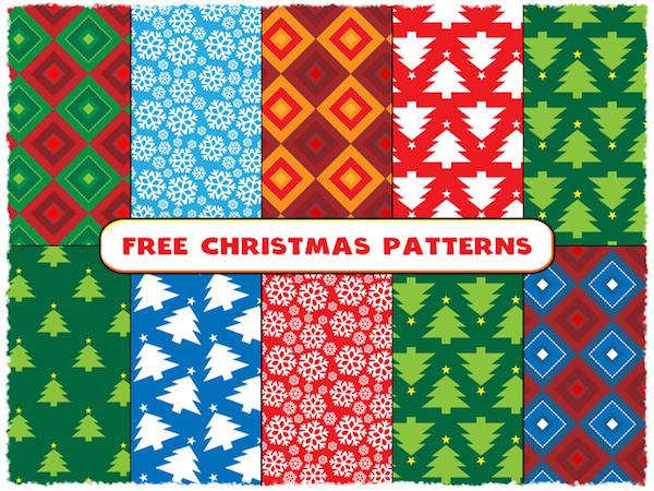 10 Free Christmas Seamless Patterns
