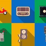 9 Free Retro Flat Icons PSD