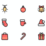 Free Colored Christmas Icons Set