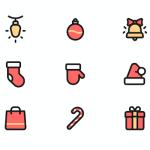 Free Colored Christmas Icons Set