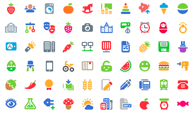 Free 100 Cosmo Color Icons Set (PSD)