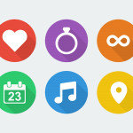 Free Wedding Icons Set (PSD)