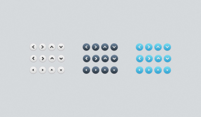 Free Simple Arrow Buttons (PSD)