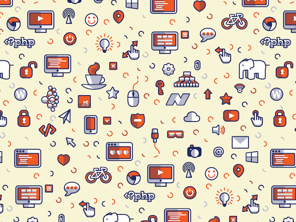 Free Creative Icon Pattern Background