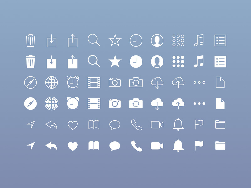 Free iOS Icons .sketch