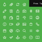 Free 200 Uniicons Line Icons PSD