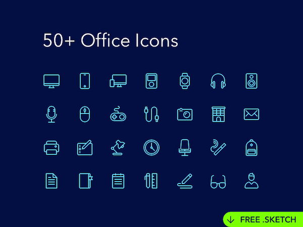 Free Office Icons Set Sketch