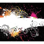 Free Colorful Paint Splash Vector Illustration