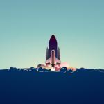 Free Rocket Launch Background Illustration Sketch