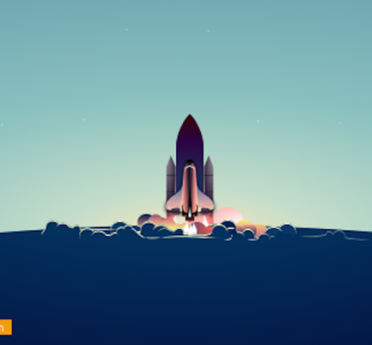 Free Rocket Launch Background Illustration Sketch