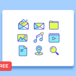 Free 9 Simple Line Icons (Sketch)