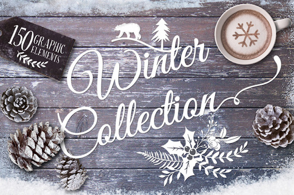 The Winter Collection – Hand Drawn Vectors, Patterns, Templates & More