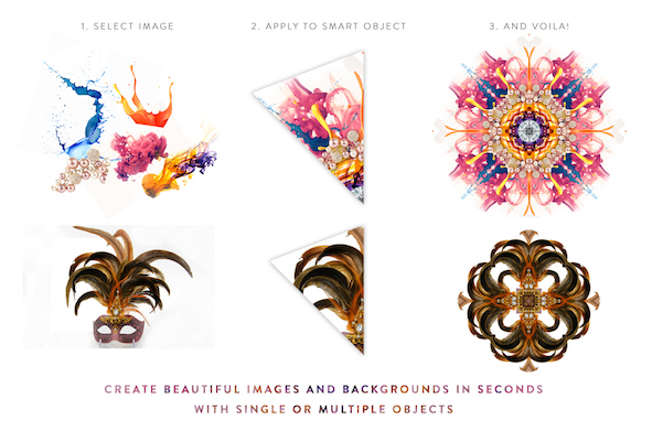 Free Kaleidoscope Background Generator PSD