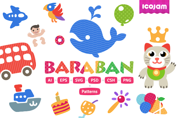 Free 20 Baraban Mini Icons PSD