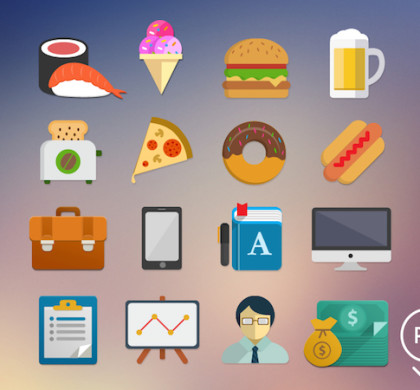 16 Free Flat Icons PSD