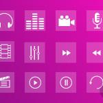 12 Free Multimedia Icons Set (Sketch)