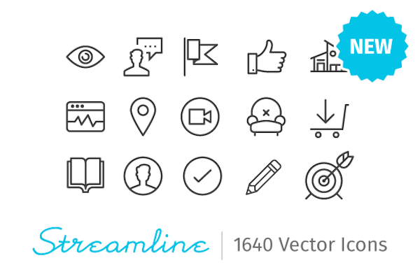 Streamline Essential – 2000 .sketch Icons