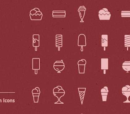 90 Free Ice Cream Icon Vectors