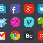 20 Free Social Media Badges PSD