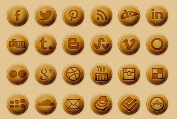 Free Baked Social Media Icons