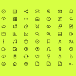 72 Free Tiny Line Icons PSD & Sketch