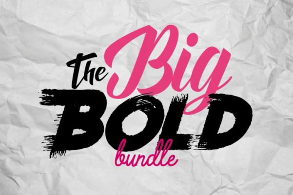 The Big Bold Font Bundle
