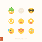 Free Emoticons Set (Sketch)
