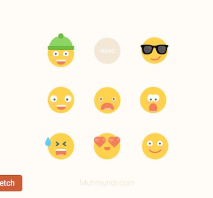 Free Emoticons Set (Sketch)