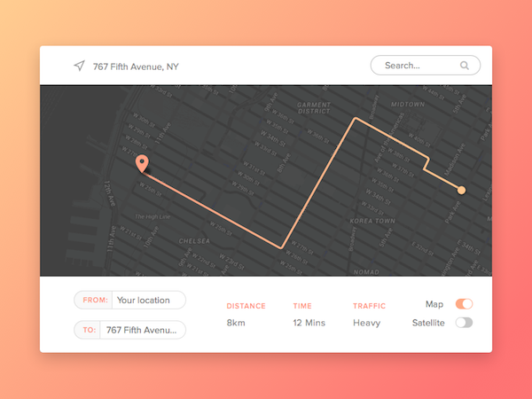 Free UI Map for Sketch