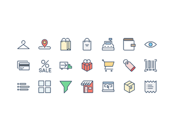 21 Free Shopping & eCommerce Icons PSD