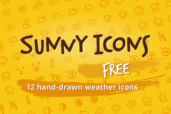 Free Sunny Weather Icons Set (PSD)