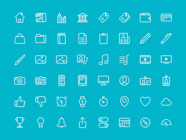 48 Free Icons PSD & Sketch