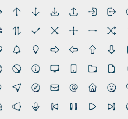 Free 100 Ink Style Icons PSD