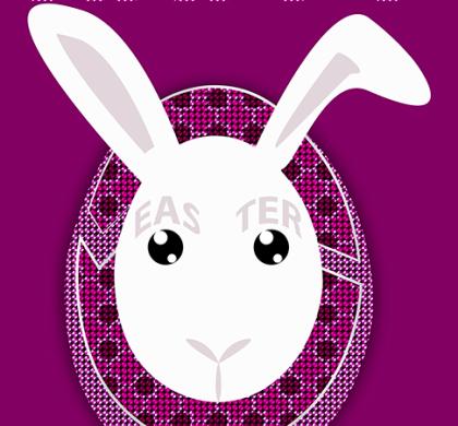 Free Easter Rabbit Postcard