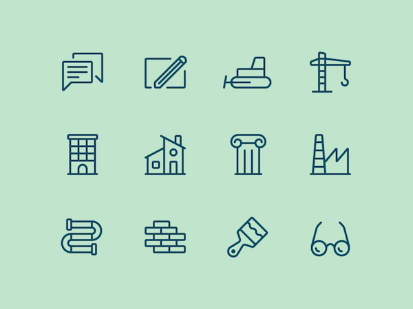12 Free Building Icons (Sketch)