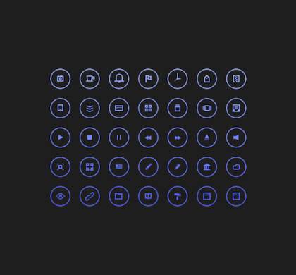 35 Free Circular Icons PSD