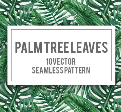 10 Lush Palm Tree Leaves Patterns