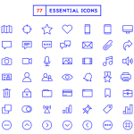 77 Free Essential Icons PSD