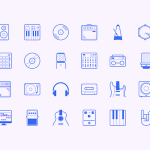 24 Music Studio Icons (Sketch)