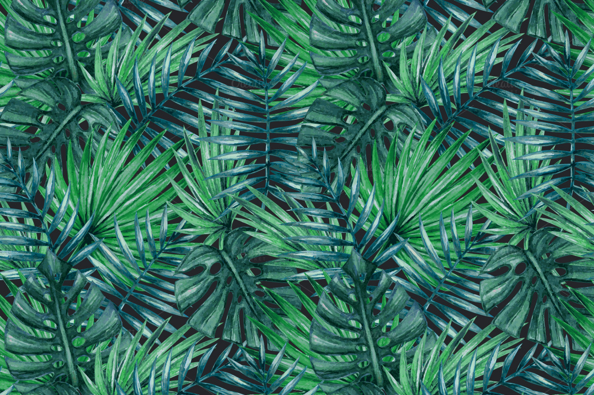 10 Lush Palm Tree Leaves Patterns  Psdblast