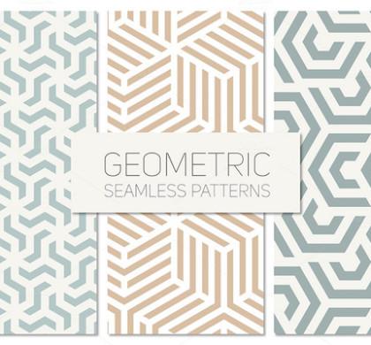 Geometric Seamless Patterns Set