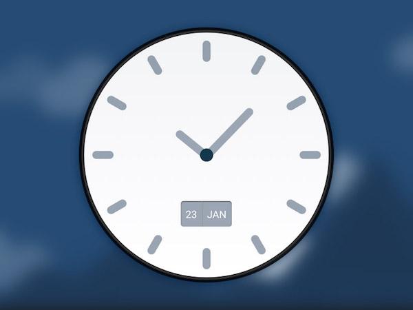 simple-clock-psdblast