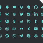 Free 35 Social Icons Set (PSD)