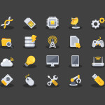 Free Yellow Technology Icons