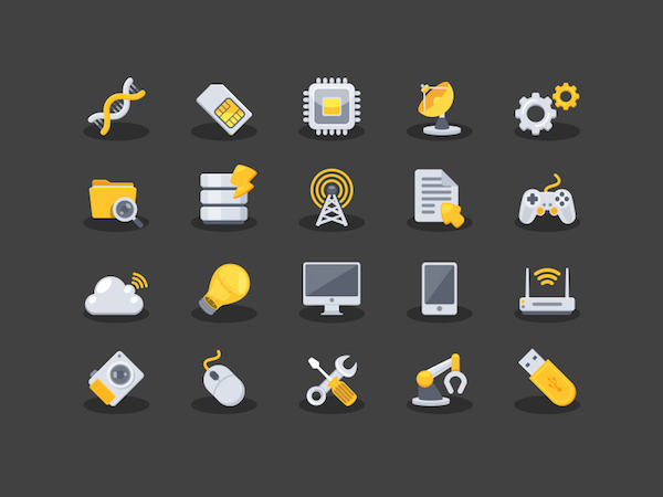 Free Yellow Technology Icons