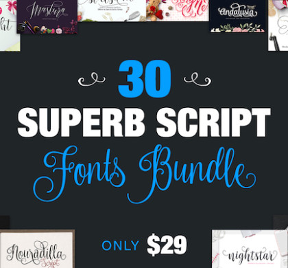 30 Superb Script Fonts Bundle