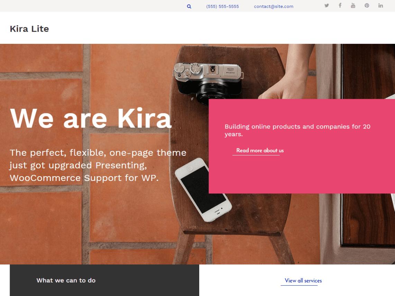 Kira WP theme psdblast
