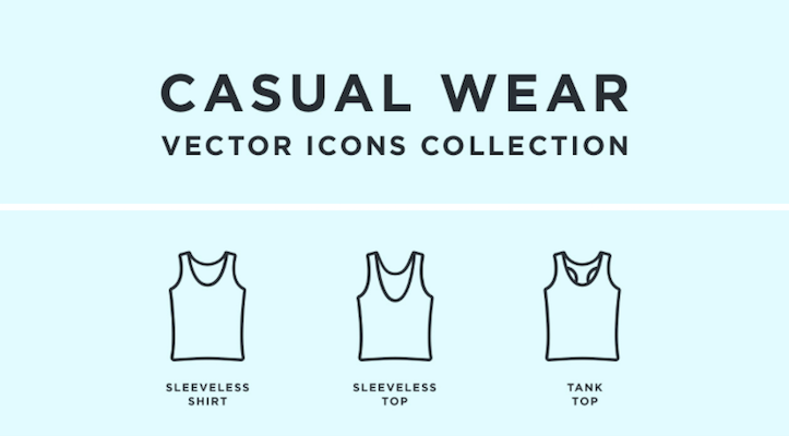 Free Casual Wear Clothing Icons (Sketch)