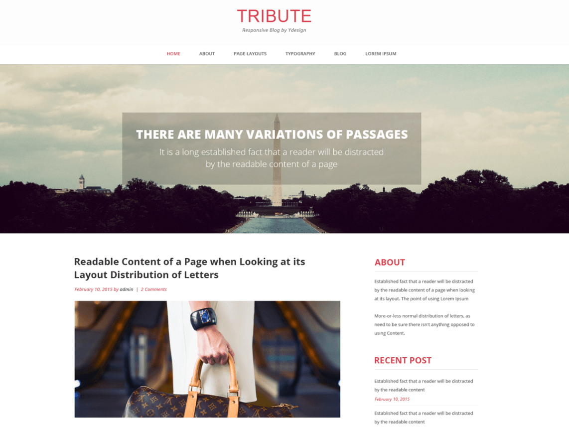 Tribute WP theme psdblast
